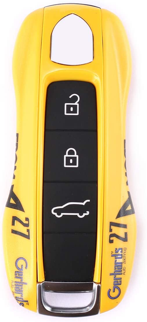 Gulf Oil, Style A CHEYA Car Key Case Keyshell Covers for Porsche Panamera 2010-2019 Cayenne 2011-2020 911 2013-2020 Macan 2014-2019 Boxster 2013-2016 Cayman 2013-2016 718 2016-2019