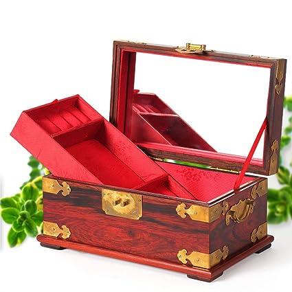 Amazoncom Red rosewood mahogany jewelry box Chinese Jewelry