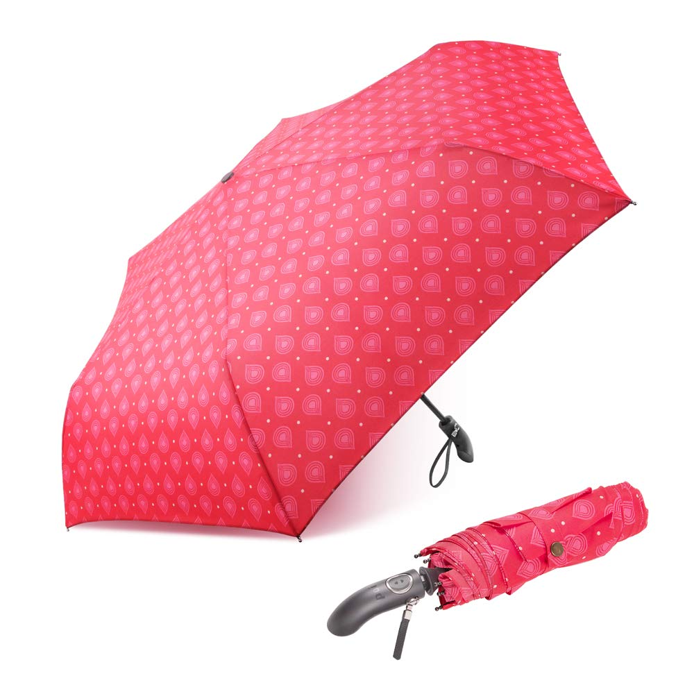 boy® Folding Umbrella Automatic Umbrella Automatic Opening and Closing, Small Umbrella Travel Umbrella for Women Ladies Girls, Non-Slip Handle for Easy Grip, Blue B07D8QWGG4