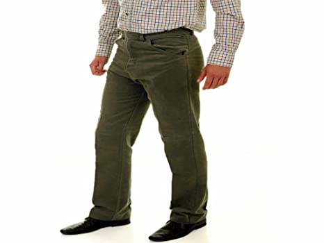 3adf34e330b6d8 Riverside Outdoor Mens Top Quality Olive Lovat Moleskin Shooting Trousers -  Olive Colour 32 waist 29