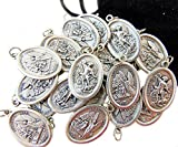 Westman Works Bulk Medal Lot Set of 20 St Michael with Guardian Angel Metal Saint Pendant W Bag From Italy