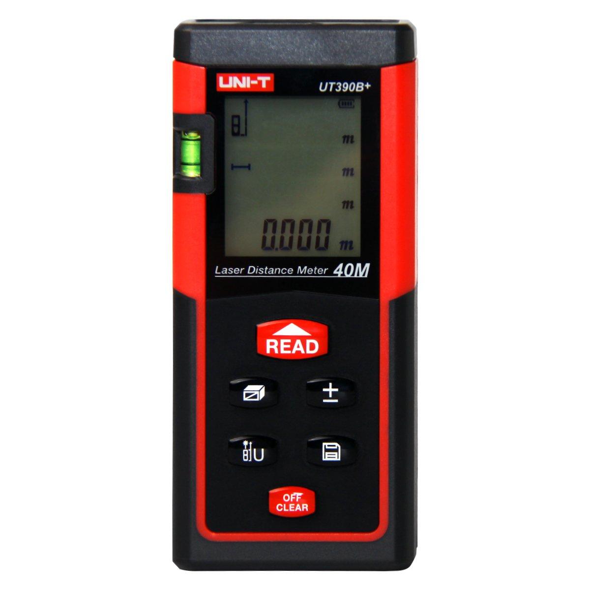 UNI-T UT390B+ Laser Distance Meter 40m Auto-range Area/Volumn/Diastimeter Range Finder Digital Laser Tape Measurement