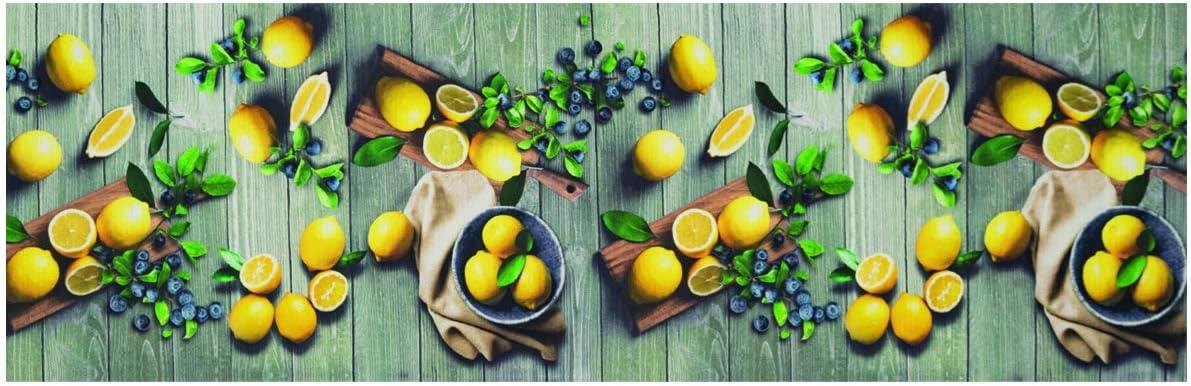 BIANCHERIAWEB Tappeto Passatoia Antiscivolo Stampa Digitale Sprinty LOriginale Dis Limoni 50x90 Limoni