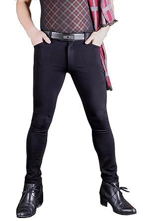 linvme men s jeggings tights super elastic plus size stretchy pencil