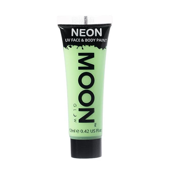 Tubo de pintura moon glow barata de color verde fluorescente