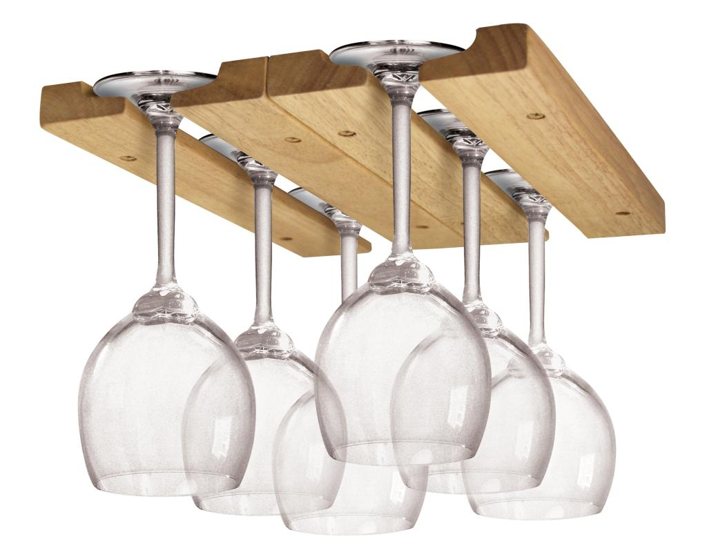 Amazon Com Fox Run 5025 Wine Glass Rack Wood Kitchen