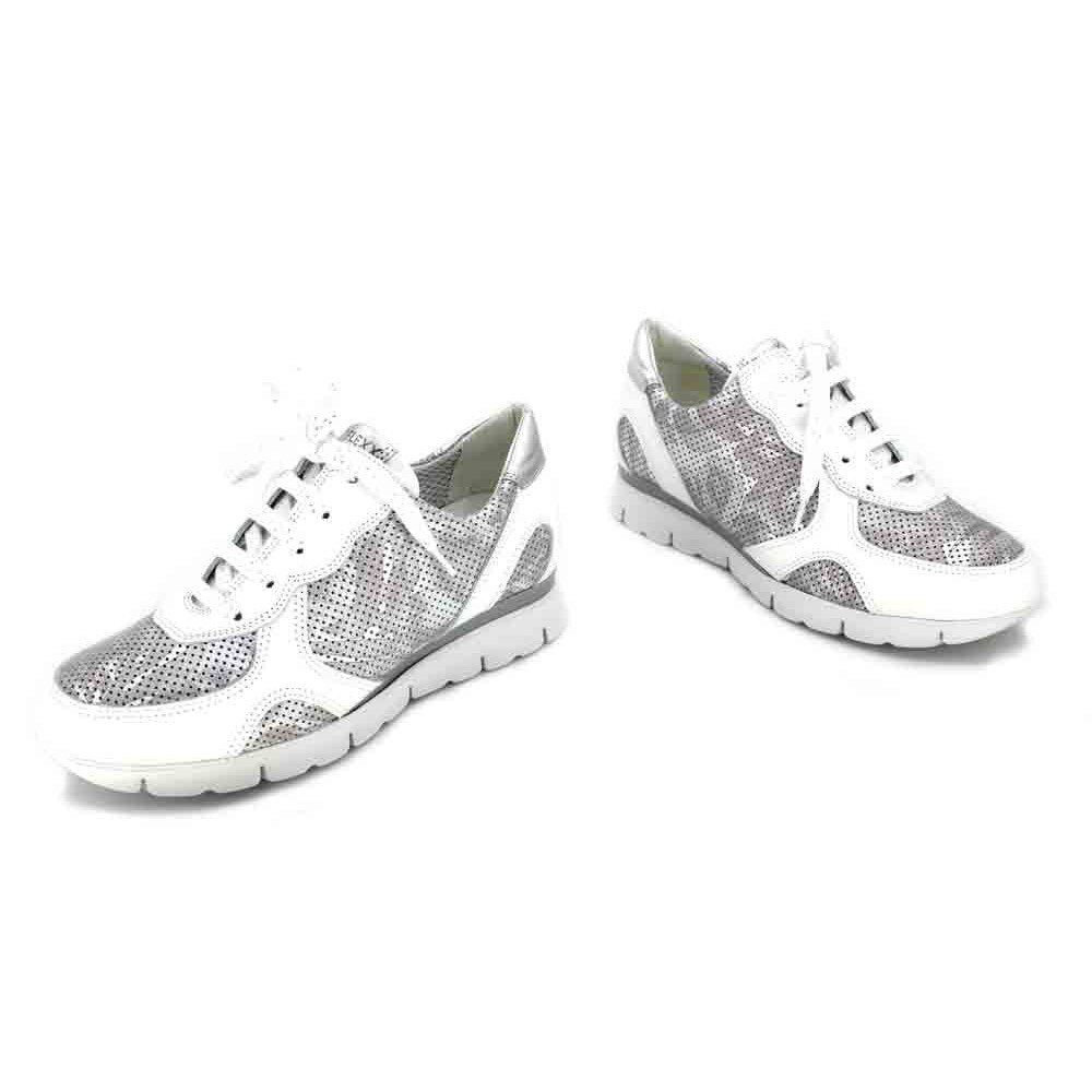 The The The FLEXX Movie Sneaker Donna  Silver/White 45043d