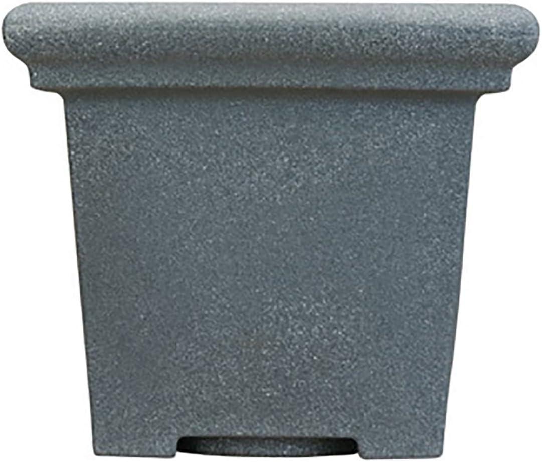 Akro-Mils TEA20000G21 Terrazzo Round Planter with Heavy Rim, Black Granite, 20-Inch