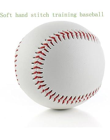 SOWOFA Balón de béisbol 9 pelotas suaves de entrenamiento con relleno suave para aplicar aleación de