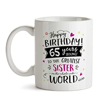 65th Happy Birthday Gift Mug
