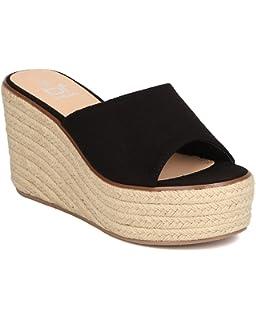 03c560baa37 Amazon.com | Women Faux Suede Espadrille Platform Wedge - Dressy ...