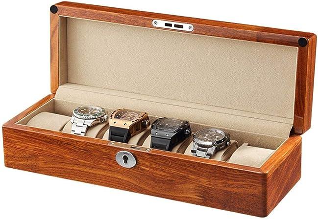 0LL Caja para Relojes Estuche de Relojes Caja para Relojes Madera 6/12/ Compartimentos, para Coleccion y Almacenamiento (Color : B-6watchs): Amazon.es: Hogar