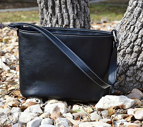 MoonStruck Leather Concealed Carry Purses - CCW Handbags Black Top Grain Leather - Made in the USA - Classic by MoonStruckLeather