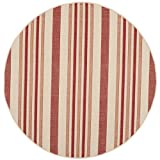Safavieh Courtyard Collection CY7062-238A21 Beige and Red Indoor/Outdoor Round Area Rug (5'3″ Diameter) Review
