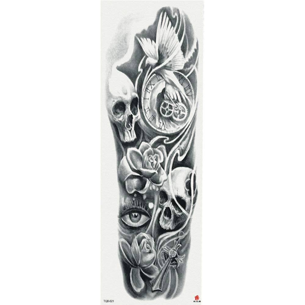 Handaxian Nueva Etiqueta engomada del Tatuaje Gran Flor Brazo ...