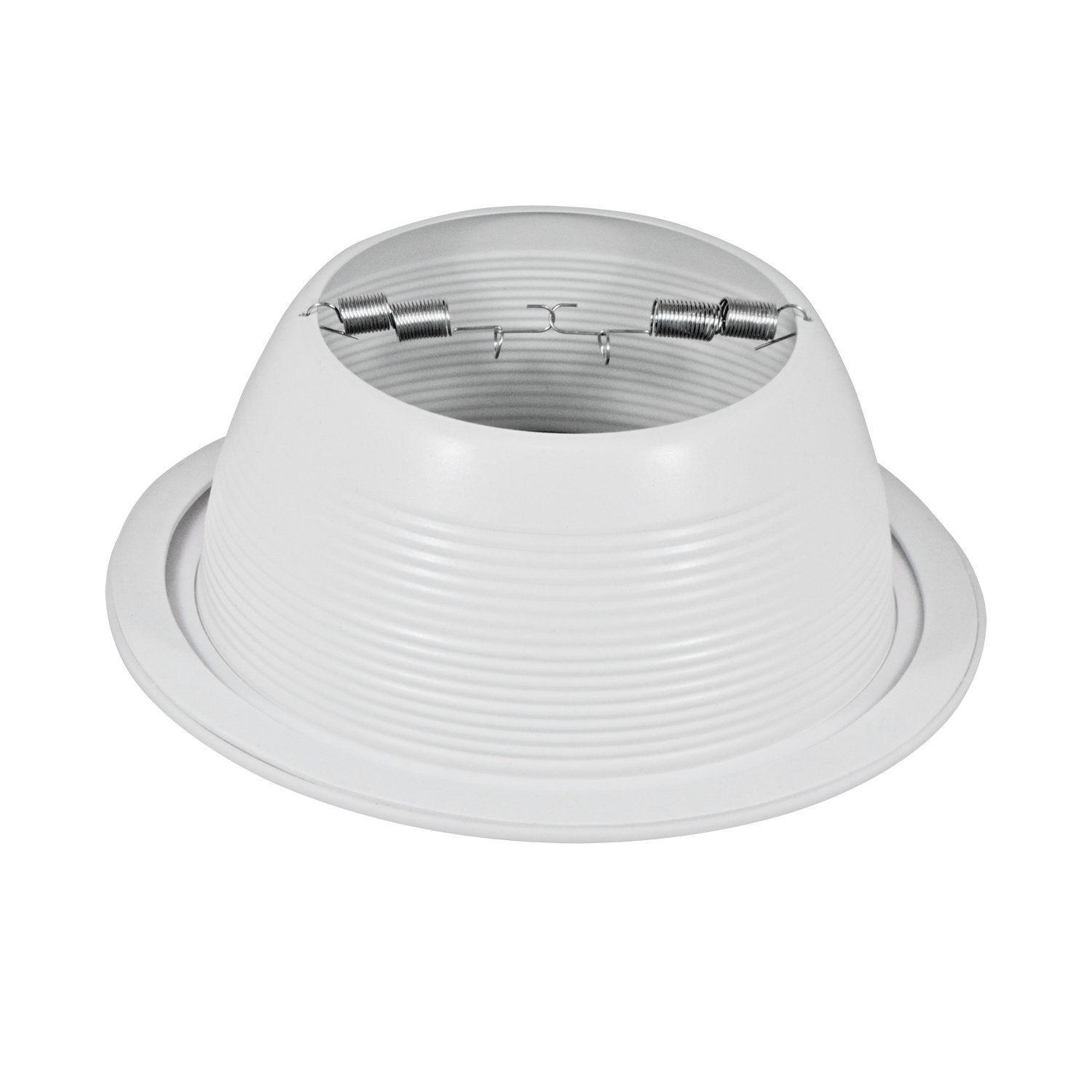 Pack of 24-6'' White Baffle Trim with White Ring for 6'' Recessed Can Lighting - Replaces BR30/PAR30/R30