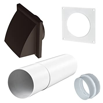 Strålande Extractor Fan Telescopic Wall Ventilation Duct Sleeve with Cowled CW-89