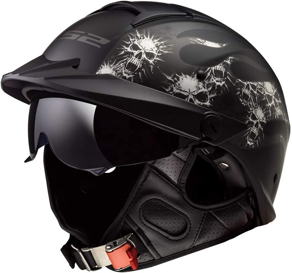 LS2 Helmets Rebellion Motorcycle Half Helmet}