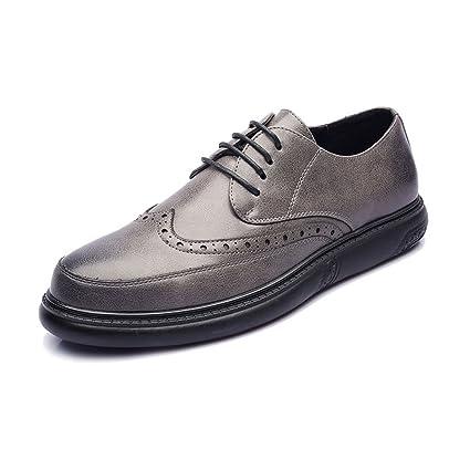 Xiazhis-shoes, Zapatos de Cuero PU de los Hombres con Cordones Mocasines de diseño