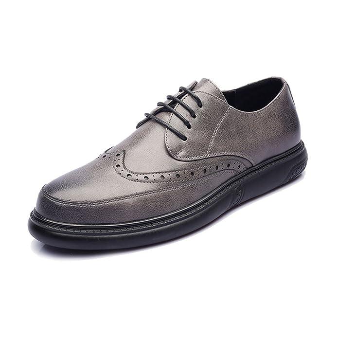 IWGR Zapatos de Cuero de PU para Hombres Mocasines con Cordones Diseño clásico Tallado Suela Oxfords Transpirable: Amazon.es: Zapatos y complementos