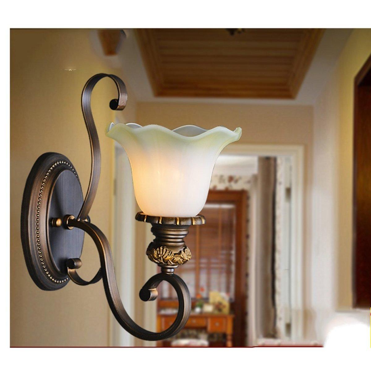 AJZGF Europäische Retro-Wandleuchte Wohnzimmer Schlafzimmer Nachttischlampe Treppenlichter Ganglichter Flurbeleuchtung