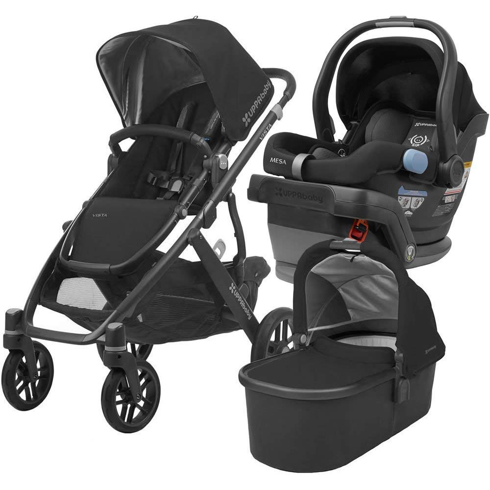 size 40 74b8e b9c82 Amazon.com   UPPAbaby Full-Size Vista Infant Baby Stroller   MESA Car Seat  Bundle (Jordan)   Baby