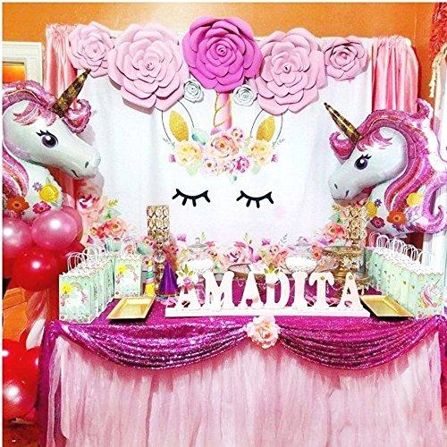 Amazon.com: Unicornio decoración Banner para niños adultos ...