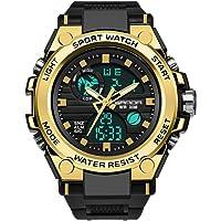 Cindero Shop Männer Outdoor multifunktionale Sport Uhr Dual Display Analog Digital LED Electronic 50m Tief wasserdichte Armbanduhren