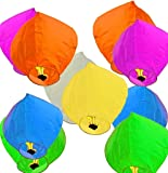 FUTUREZ KEY Sky Lanterns Multicolour Wishing Hot Air Balloon/Flying Night Sky Candle for Diwali/Christmas/Marriage/Birthday/All Festival (Pack of 10)