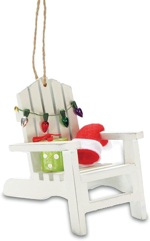 Amazon Com Cape Shore Coastal Beach Adirondack Chair Christmas Tree Holiday Ornament Home Kitchen