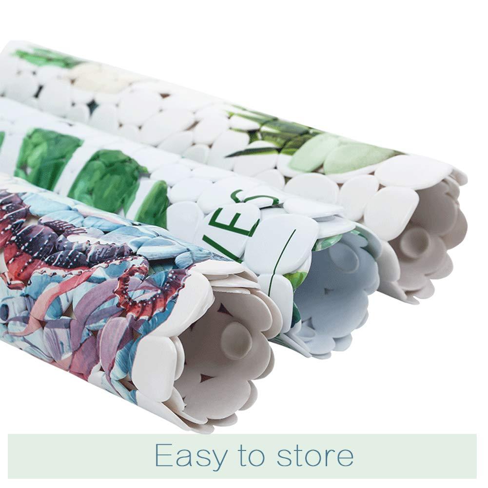 JOTOM Tappetino Antiscivolo con potenti Ventose Resistente e Resistente a Stampo Antiscivolo in PVC Antiscivolo per Bagno e Doccia 35x69 cm Alce