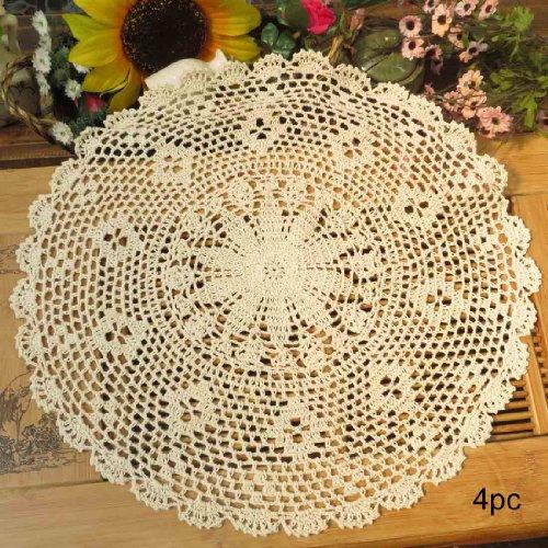 Kilofly Crochet Cotton Lace Table Placemats Doilies Value...