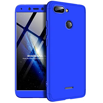 Funda XiaoMi Redmi 6, Ultra Fina 3 en 1 Desmontable Anti-Arañazos Hard PC Carcasa 360° Full-Cover Anti-Choque Protective Funda para XiaoMi Redmi 6 ...