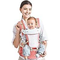 Kidsidol 4 en 1 Portabebés Hipseat Ergonómico Sling Mochila Desmontable 4 Posiciones Adecuado para 0-3 años