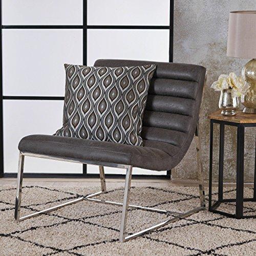 (Christopher Knight Home 303671 Felicia Parisian Modern Slate Microfiber Sofa Chair,)