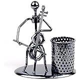 Pen Container Holder Pencil Cup Iron Art Music Figure~Home Office Desk Decor Gift (C72 Cello)
