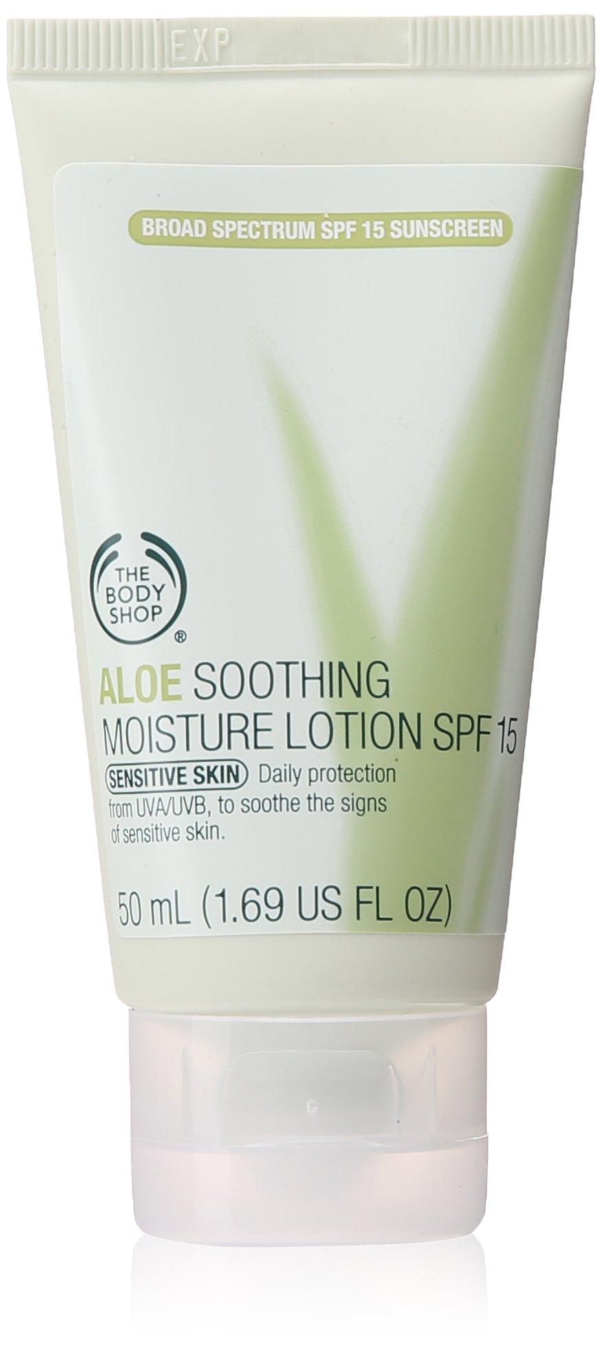 The Body Shop Aloe Soothing Moisture Lotion SPF 15, 1.69 Fluid Ounce
