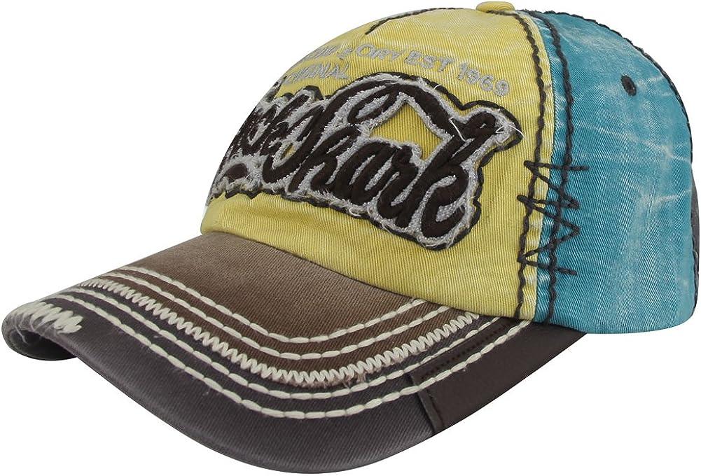 MINAKOLIFE Rock Shark Distressed Vintage Cotton Embroidered Baseball Cap Snapback Hat