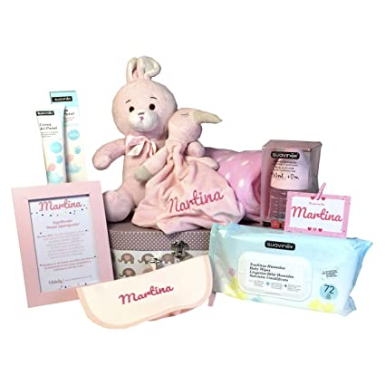 Canastilla Bebe Bear and Rabbit | Cesta Regalo Bebe Personalizada ...