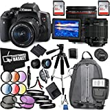Canon EOS Rebel T6i DSLR Camera 18-55mm Lens Canon EF 24-70mm Lens Accessory Bundle International Model