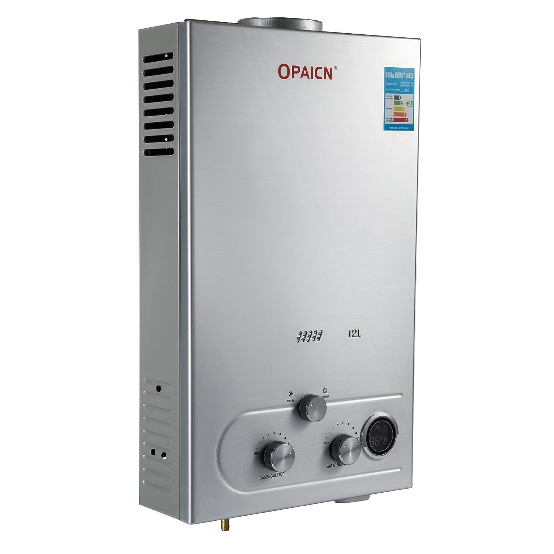 6L Cueffer LPG Calentador de Agua Calentador de Agua de Gas Licuado 36KW Calentador de Agua Autom/ático LCD Digital Calentador de Agua Instant/áneo Propane Gas Hot Water Heater