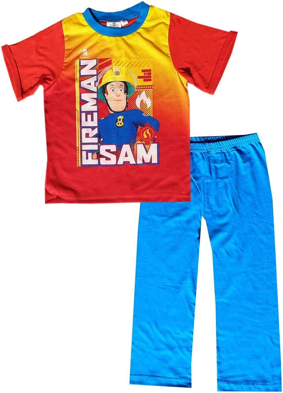 Ages 1.5 to 5 Years Fireman Sam Short Pyjamas