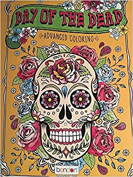 Day Of The Dead Advanced Adult Coloring Book: Karmin: 0773392023567 ...