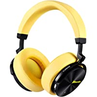Bluedio T5 Active Noise Cancelling Wireless Bluetooth Headphones Portable Stereo Headsets 25 Hrs Playtime with Mic for Phones/PC/Travelling/Gift (Black)