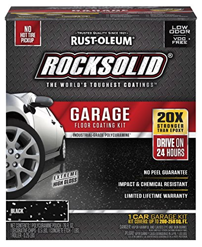 - Rust-Oleum 318712 RockSolid 1 Car Garage Floor Coating Kit, Black