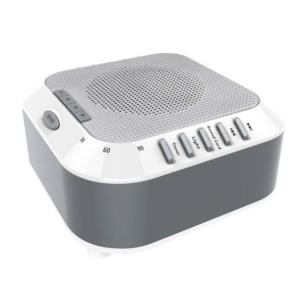 Sound Machine,White Noise Machine, LBell Music Player with Night Light, 5 Soothing Sounds, Rechargable Battery