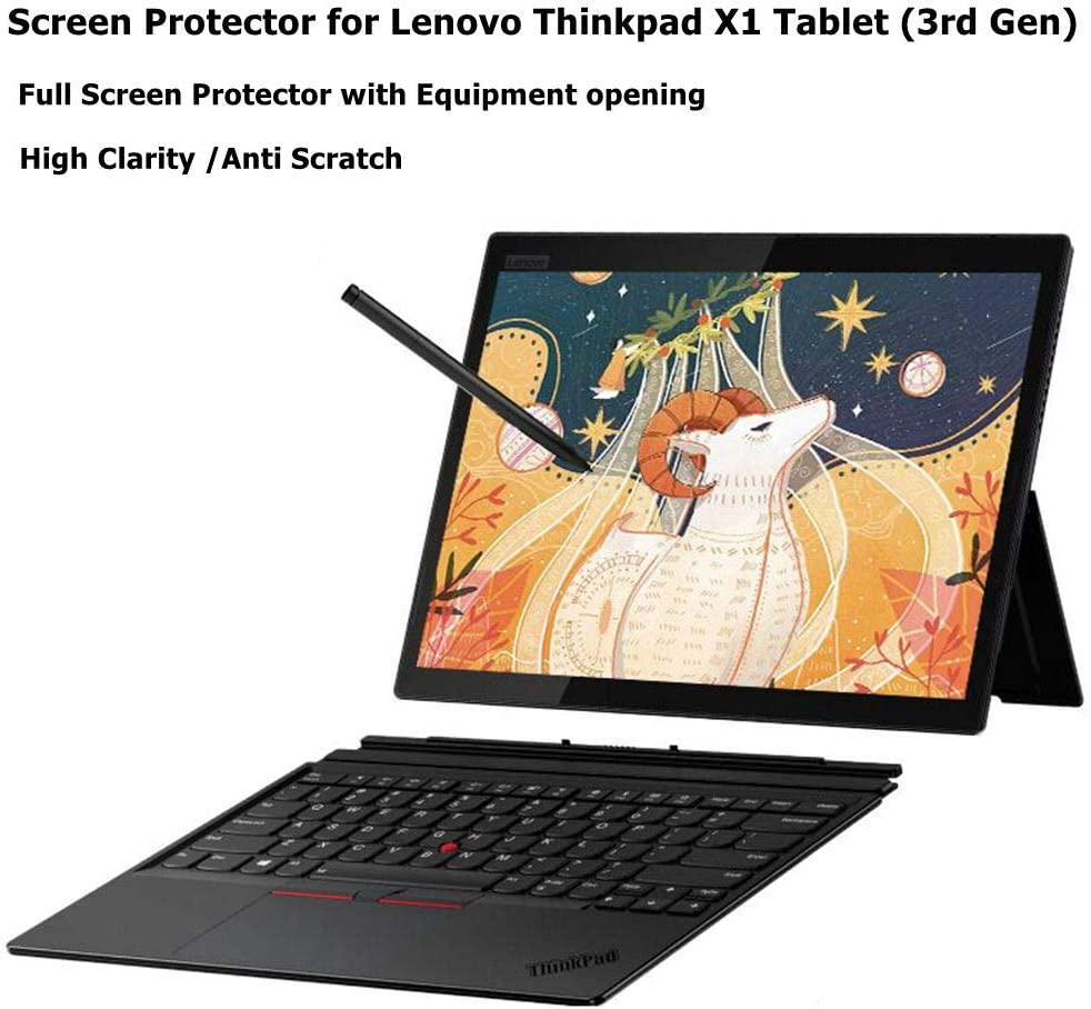 Starfilm Screen Protector for Lenovo Thinkpad X1 Tablet (3rd Gen) 13 Inch Full Screen Protector with Precise Cutout.Anti-Glare 2pack (Thinkpad X1 Tablet 3rd, 13 Inch)