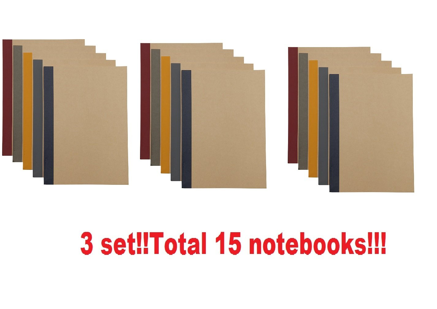 MUJI Planted tree Paper Note Book (Hard to bleedthrough) 15 set B5 · 90 sheets · 6mm ruled paper,5 colors from Japan 76316145