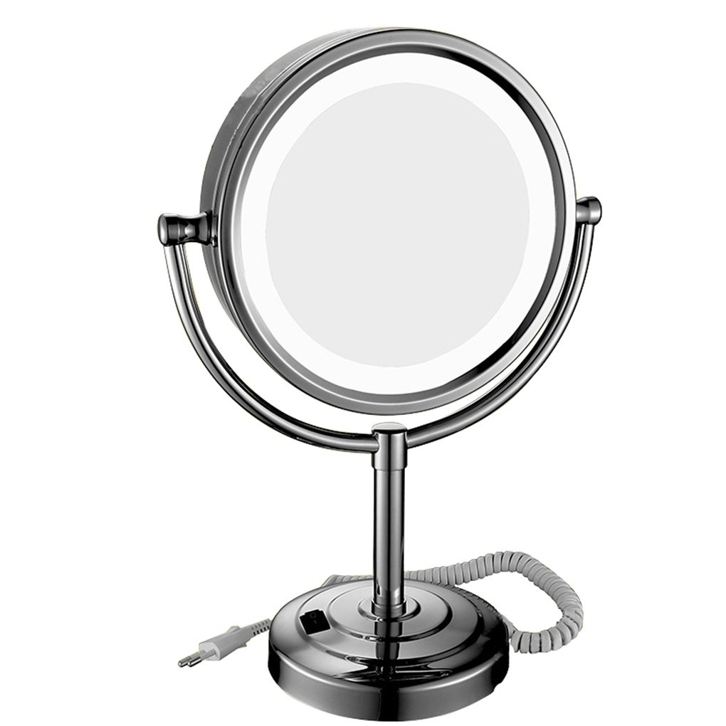 Ysayc 3X led Makeup Mirror Desktop Rotate Creativity Girl Dorm Room Bathroom Dressing room Beauty Vanity Mirror. gift, 8 inch