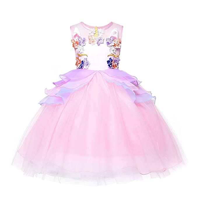Amazon.com: Disfraz de unicornio de tutú para niña, disfraz ...